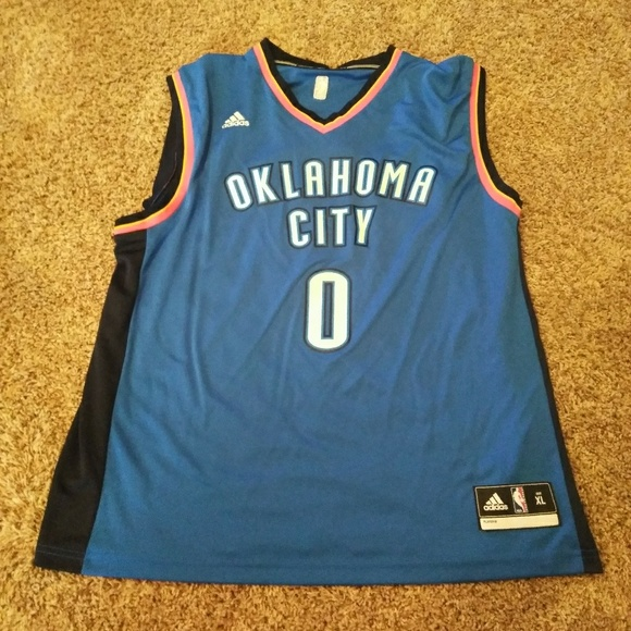 Mens Oklahoma City Thunder Russell Westbrook adidas Light